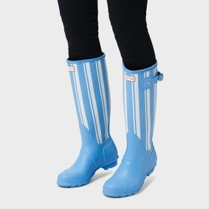 Hunter boots stripes